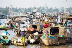 The bustling vibe in Mekong Delta